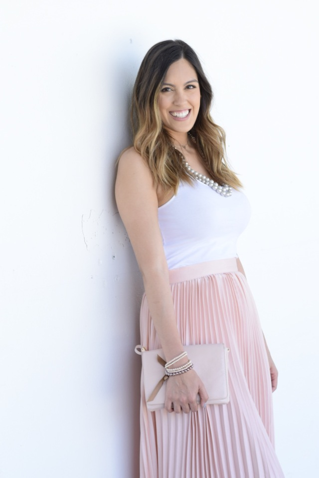 Pink Pleated Skirt Amp Charming Charlie Giveaway Stylethegirl
